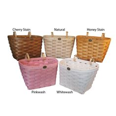peterboro girls Our child's bicycle basket is the most adorable one yet it comes with pink and purple leather accents on a natural only basket or with hunter green and navy blue.