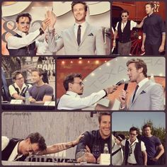 Johnny and Armie Hammer