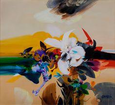 Flor carnivora- Alejandro Obregon <3 Colombian Art, Art Pictures, Art Pics, American Art, Flower Art, Poster Prints, Posters, Sculptures, Watercolor