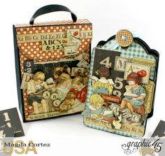 School Days Backpack Mini Album-An ABC Primer-By Magda Cortez-Product by…