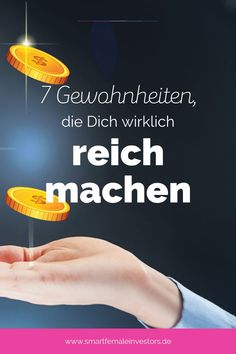 7 Gewohnheiten, die Dich wirklich reich machen Humans are creatures of habits. This also applies to money. We make many decisions subconsciously. Life Challenge, Money Pictures, Check Up, Bad Bunny, Savings Planner, Budget Planer, 7 Habits, Financial Tips, Money Management