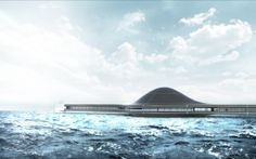 NAUTILA High-tech hotel - Architectural Concept by Sacha Lakic Design #architecture #SachaLakic #FloatingHouse #WaterLiving www.lakic.com