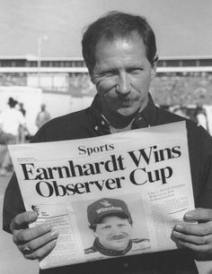 Dale Earnhardt celebrates in Victory Lane after winning The Winston, as NASCAR's all-star race was called at the time, at Charlotte Motor Speedway in Jr Motorsports, The Intimidator, Nascar Race Cars, Chase Elliott, Kevin Harvick, Dale Earnhardt Jr, Vintage Racing, Senior Photos, Fast Cars