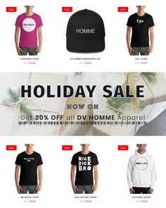 Get 20% OFF all DV HOMME Apparel  #blackfriday #cybermonday #xmas #holidaysale #sale #dvhomme #menswear #fashion #shopping #lgbt Embroidered Caps, Tank Top Shirt, T Shirt, Holiday Sales, Fashion Labels, Lgbt, Menswear, Xmas, Mens Fashion