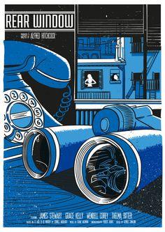 Movie Poster Movement — Rear Window by Scott Duffey Window Poster, Window Film, Rear Window, Poster Wall, Best Movie Posters, Cool Posters, Film Posters, The Pleasure Garden, Top Film