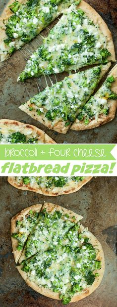 Delicious Broccoli and Cheddar Four-Cheese Pizza