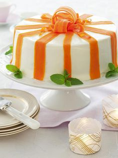 Decorated with fresh carrot ribbons, this carrot cake makes an impressive party dessert.