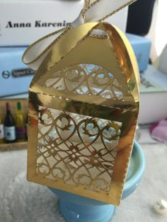 100pieces Free Shipping Metallic Gold Lace Flower Laser Cut Gift Packaging Boxes With Ribbon Wedding Favor Boxes Candy Gift Boxes by KJdecoration on Etsy