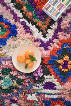 SPRING FESTIVAL 7'10'' x 4'2'' Boucherouite Beni Ourain Azilal Runner Rug. Moroccan Berber. Mid Cent