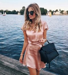 20 Cheap Dresses That Look Designer Deciding what to wear can be made easier by choosing a dress. These cheap dresses come in all different styles for any occasion! Gold Satin Dress, Pink Silk Dress, Satin Dresses, Silk Short Dress, Silk Skirt, Silk Satin, Cheap Dresses, Cute Dresses, Casual Dresses