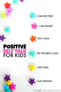 Color coded beads for kids positive self talk