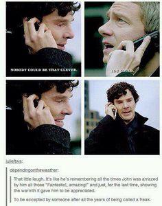 Sherlock/John Watson before Sherlock jumps. *sob* I don't think that Sherlock is a freak. Sherlock Bbc, Sherlock Fandom, Sherlock Tumblr, Martin Freeman, Benedict Cumberbatch, Detective, Mrs Hudson, Sherlolly, Baker Street