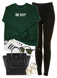 """""""Style #10359"""" by vany-alvarado ❤ liked on Polyvore featuring Topshop, adidas Originals and Rayban"""