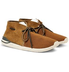 <a href='http://www.mrporter.com/mens/Designers/Visvim'>visvim</a> founder Mr Hiroki Nakamura chases perfection - that's why every detail in his designs is carefully considered. Striking the perfect balance between innovative sneakers and traditional moccasins, this 'Huron' style is made from breathable mesh and durable suede and finished with rugged leather ties. They're set on rubber soles for unbeatable traction and will look best with cuffed jeans.