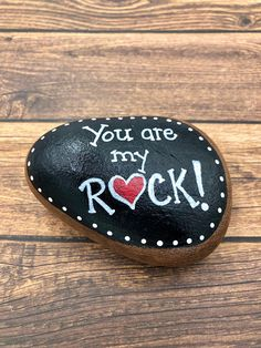 Rock Painting Ideas Discover Valentines Day Painted Rock You Are My Rock Painted Stone Painted Rock Valentine Gift Gift for Him Hand-Painted Rocks Valentines Day Painted Rock You Are My Rock Painted Pebble Painting, Pebble Art, Stone Painting, Heart Painting, Diy Painting, Stone Crafts, Rock Crafts, Arts And Crafts, Painted Rocks Craft