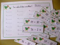 Le calcul des cocottes - Jeu de calcul: +1 -1 +10 -10