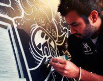 Sid Lee Chalk Mural