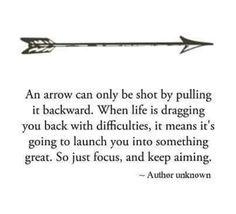 Arrow quote for saggitarius Boe and arrow
