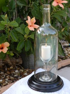 Special Wine Glass In A Bottle Candle Holder by BoMoLuTra on Etsy, $24.99