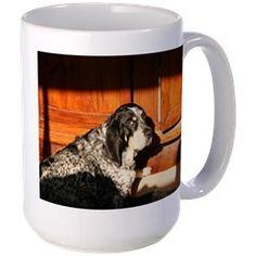 bluetick coonhound laying Mugs