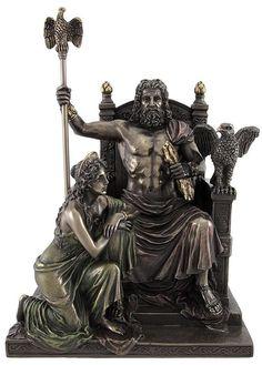 Zeus & Hera Greek Gods at the Throne Statue