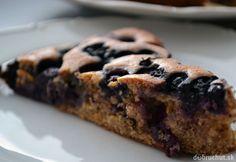Fotorecept: Špaldový čučoriedkový koláč Banana Bread, Muffins, Cooking Recipes, Sweets, 3, Fitness, Diet, Bakken, Muffin