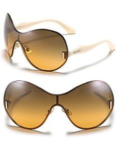 Miu Miu Rounded Shield Sunglasses | Bloomingdale's