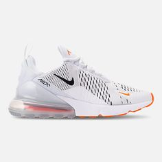wholesale dealer b5394 1fa77 Right view of Men s Nike Air Max 270 Casual Shoes in White Black