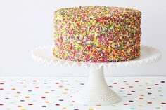 Martha Stewart likes to mark any special celebration with a homemade cake including this three-layer sprinkle cake featured in Martha Bakes on PBS.