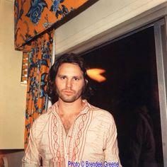 Jim Morrison ~ Photo taken at John Densmore's birthday party December 1969