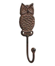 Look at this #zulilyfind! Brown Owl Wall Hook #zulilyfinds