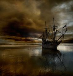 Saint Elmo's Fire... it often appeared on the masts of ships, and was considered very lucky or a blessing.  Named for St. Elmo, the patron saint of sailors.