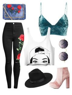 """"""";)"""" by jamiekane on Polyvore featuring Fleur du Mal, Charlotte Russe, Boohoo, Lack of Color, Spitfire, cute, Trendy, women and fashionset"""