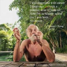 Tommy Chong is cancer free!
