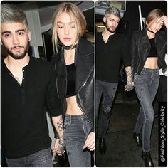 No hiding it now!Gigi Hadid holds hands with Zayn Malik as pair step out in matching looks after yet another date night#GigiHadid #zaynmalik #kendalljenner #couple #gorgeous #highheels #model #white #fashion #style #celebrity #printed #hollywood #star #beautiful #CropTop #bae #legsfordays #omg #fall #coat #bff #pretty #stylish #lookbook #look... - Celebrity Fashion
