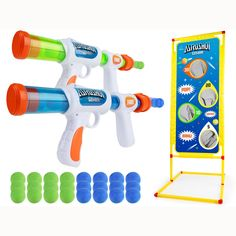 USA Toyz Astroshot Gemini Shooting Games - Foam Ball Popper Guns and Shooting Targets, Toy Guns for Kids with 24 Foam Balls Shooting Games For Kids, Outdoor Fun For Kids, Indoor Activities For Kids, Indoor Outdoor, Indoor Play Equipment, Nerf Toys, Toy Nerf Guns, Shooting Targets, Best Kids Toys