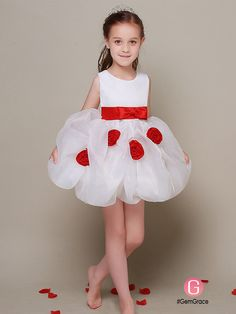 Only $69.99, Flower Girl Dresses Simple Short White Flower Girl Dress with Red Sash #EFL42 at #GemGrace. View more special #FlowerGirl Dresses now? GemGrace is a solution for those who want to buy delicate gowns with affordable prices. Free shipping, 2018 new arrivals, shop now to get $5 off! White Flower Girl Dresses, Flower Girl Tutu, Baby Dresses, Flower Girls, White Flowers, Wedding Dresses, Girls Dresses Online, Popular Flowers, Baby Co