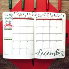 Christmas lights bullet journal monthly page #monthlyplanner #bujo #bulletjournal