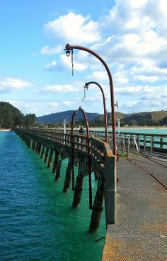 Built in 1926 it's the longest concrete wharf in at least the Southern Hemisphere - about an hour north of Gisborne, North Island, New Zealand . Gisborne New Zealand, New Zealand Holidays, Christchurch New Zealand, See The Sun, Kiwiana, The Beautiful Country, South Island, Beautiful Landscapes, Scenery