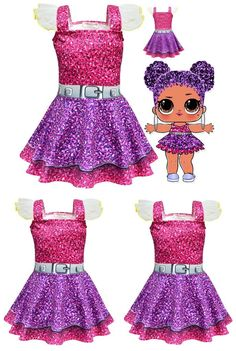 Girls Dresses L. Surprise Doll Party Dress Girl's Toddler Little Girls C… Girls Dresses L. Surprise Doll Party Dress Girl's Toddler Little Girls Costumes Kids Clothing Accessories – 8 Girl LOL Birthday Party Little Girl Dress Up, Girls Dress Up, Girls Party Dress, Birthday Dresses, Little Girl Toys, Dress Party, Doll Costume, Costume Dress, Toddler Halloween Costumes