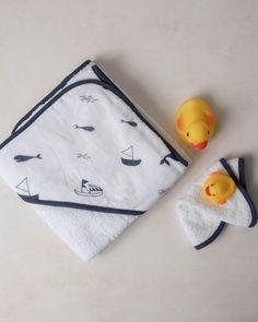 Little Unicorn Hooded Towel Set - Nautical Harbor