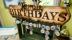 DIY Family Birthday Wall Hang - Never forget another birthday with this wooden calendar from @paigehemmis!