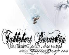 Velkommen til ToneroseDesign! ♥ I dag er jeg så heldig å få vise frem det nydelige takkekortet vi fikk fra min lille nevø Julian, etter at han ble døpt. Har du tittet innom bloggen tidligere husker du kanskje at jeg har blogget en del fra denne dåpen – alt fra bordekning, til kakebordet, bilkaka, bok-kaka, … Wedding, Decor, Valentines Day Weddings, Decoration, Weddings, Decorating, Marriage, Chartreuse Wedding, Deco