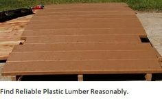 Reliable plastic lumber helps you to decorate your home easily.