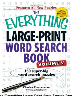 We Sell A Large Print Word Search