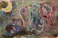 """""""Blue Goat in Communication with its Guardian Angel"""" Mixed Media by mimulux posters, art prints, canvas prints, greeting cards or gallery prints. Find more Mixed Media art prints and posters in the. Buy Prints, Canvas Prints, Goat Art, Pastel Pencils, India Ink, Gouache Painting, Outsider Art, Dark Art, Mixed Media Art"""