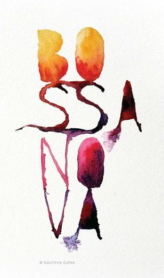 Bossa Nova poster by Elena Dulceva, via Behance