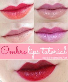 Ombré lips are great for summer. Here's a  step-by-step process to create one.