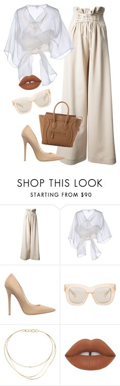 """moving forward"" by chanelandcoke ❤ liked on Polyvore featuring The Row, Armani Collezioni, Jimmy Choo, Acne Studios, Tiffany & Co., Lime Crime and CÉLINE"