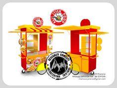 Jasa Desain Logo Kuliner |  Desain Gerobak | Jasa Desain Gerobak Waralaba: Desain Gerobak Dorong Ali Stick Food